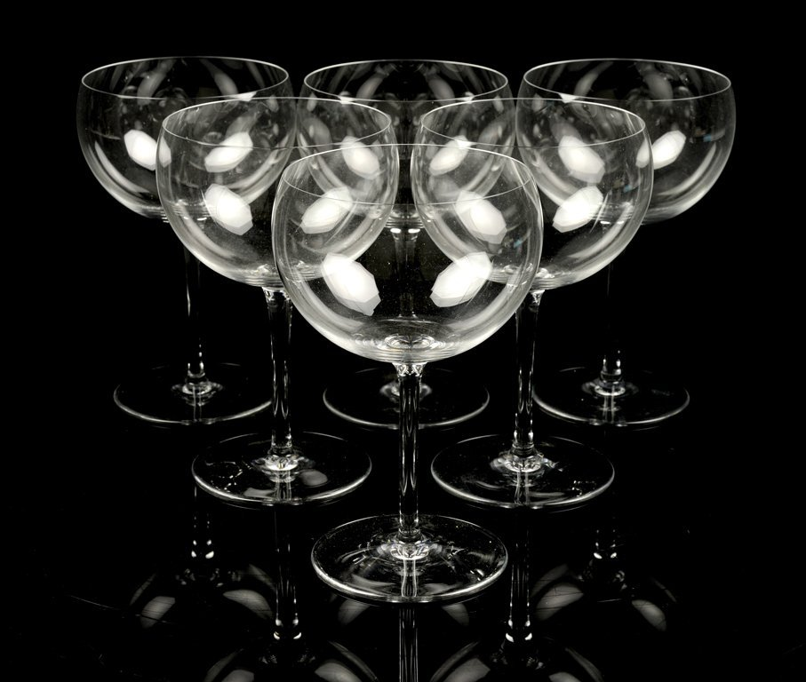 A SET OF SIX BACCARAT RED WINE GLASSES