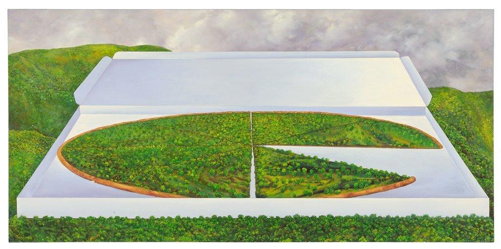 MARK BROSMER, (American, current), Earth Pizza, 2004,