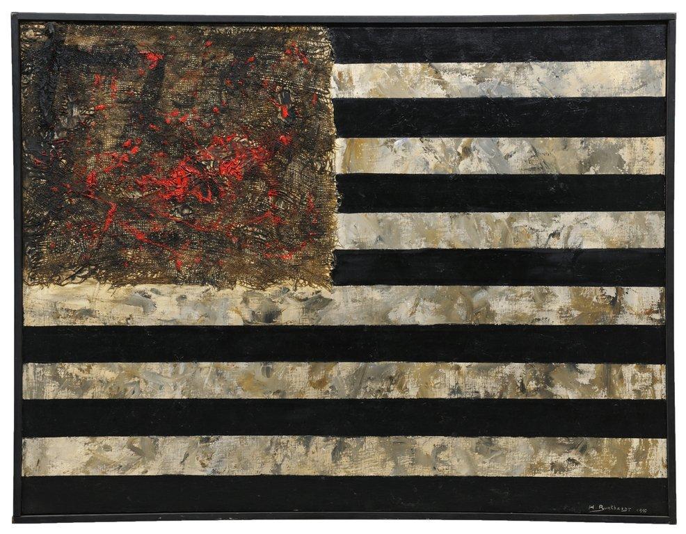 HANS BURKHARDT, (American,1904-1994), Red Flowers,