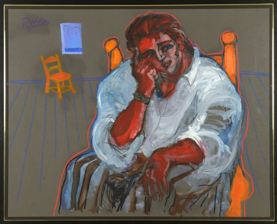 J. RUSSO, (Italian, current), Seated Figure, Oil and