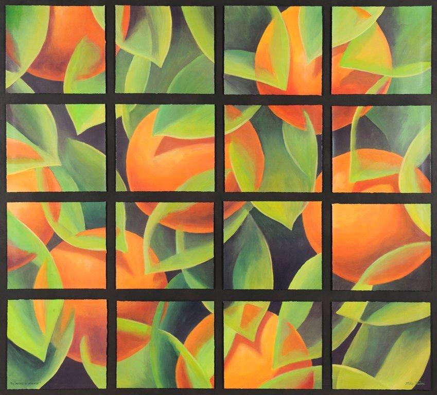 MIKE TAUBER, (American, current), Mosaic in Orange,