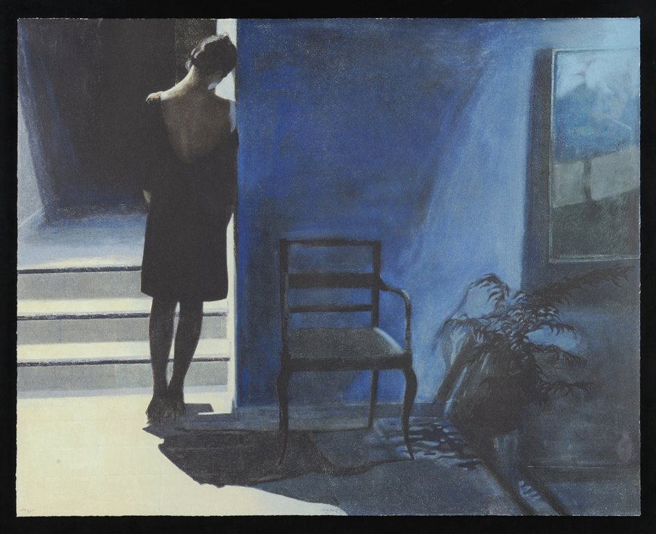 UNIDENTIFIED ARTIST , Blue Mood, 1985, Lithograph