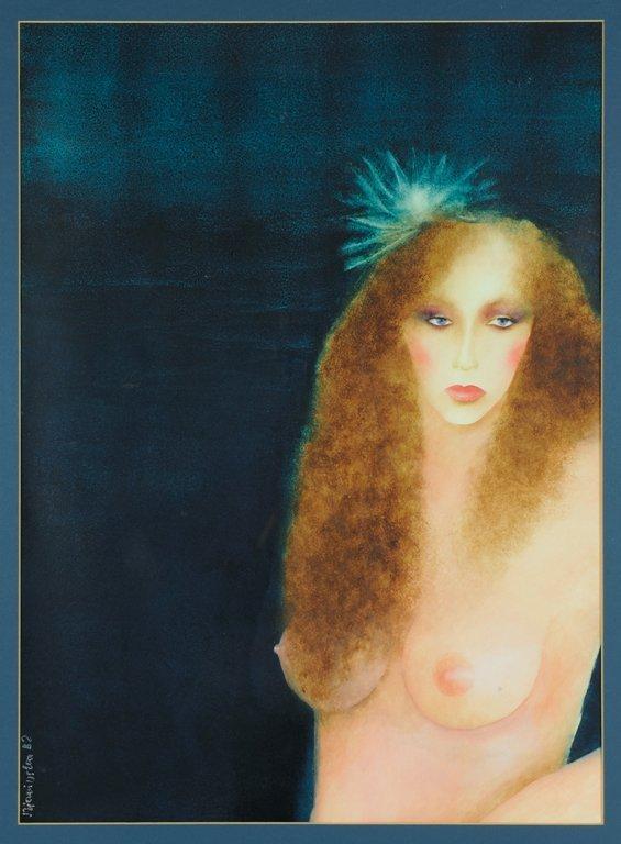 JOANNA ZJAWINSKA, (Polish, born 1950), Lady in Blue,