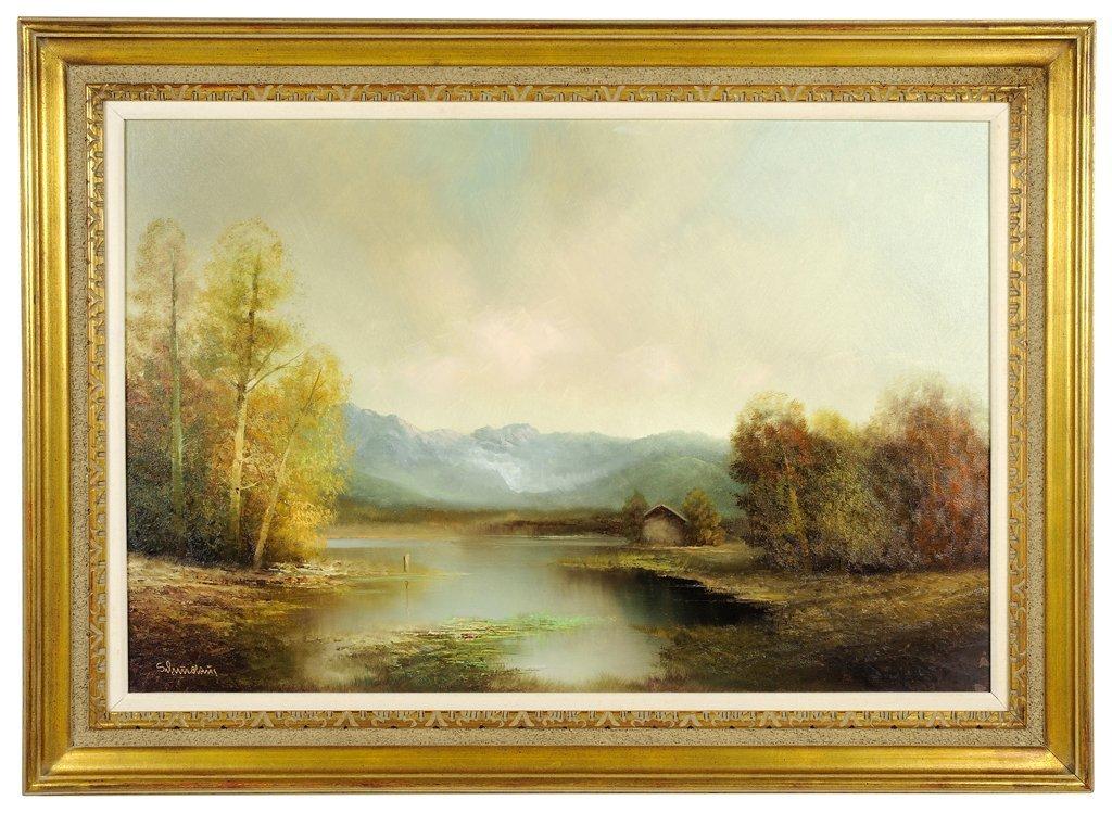 KARL SCHMIDBAUER, (German, 1921-1998), Landscape, Oil