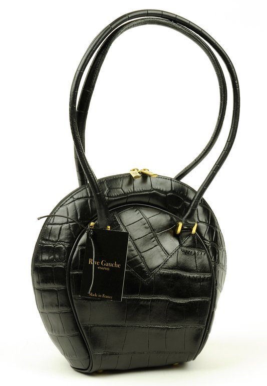 A RIVE GAUCHE EMBOSSED FAUX ALLIGATOR HANDBAG
