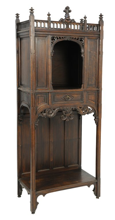 A GOTHIC REVIVAL ALTAR CABINET