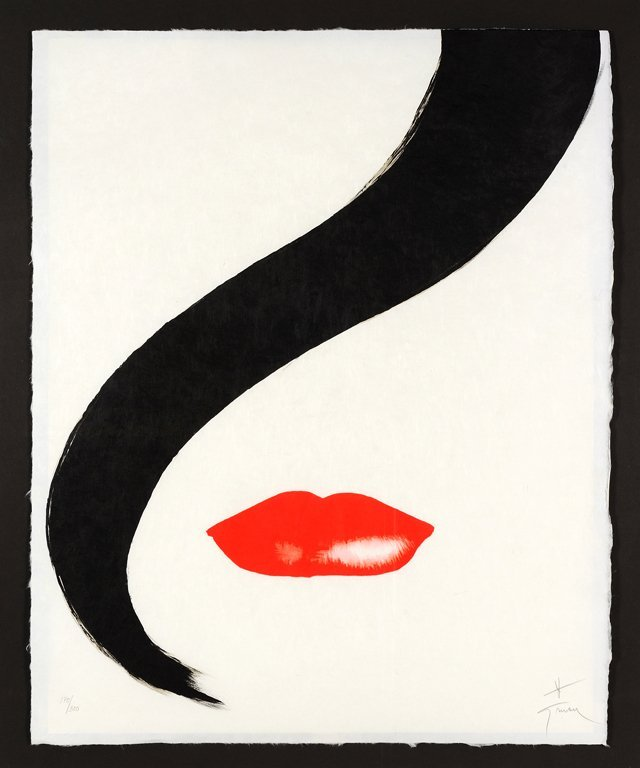 RENE GRUAU, (French, 1909-2004), Rouge, Lithograph