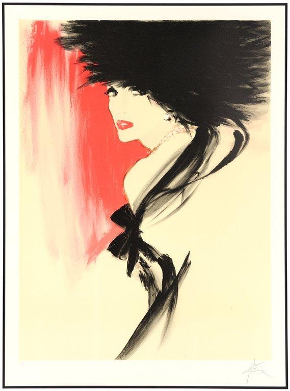 RENE GRUAU, (French, 1909-2004), La Belle En Noire,