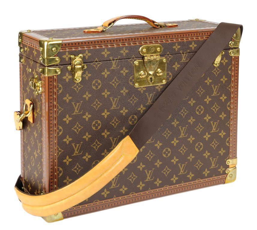 A LOUIS VUITTON MONOGRAM HARDSIDED BRIEFCASE