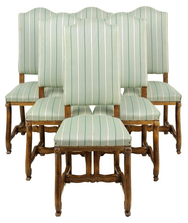 A SET OF SIX SPANISH HIGHBACK CHAIRS