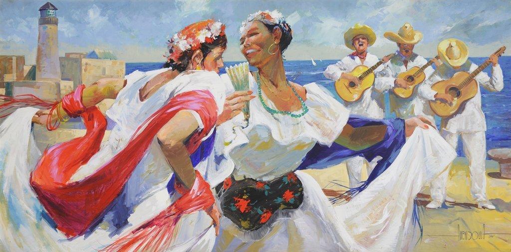 LUIS AMENDOLLA, (Mexican, 1939-2000), Jarochas, 1984,
