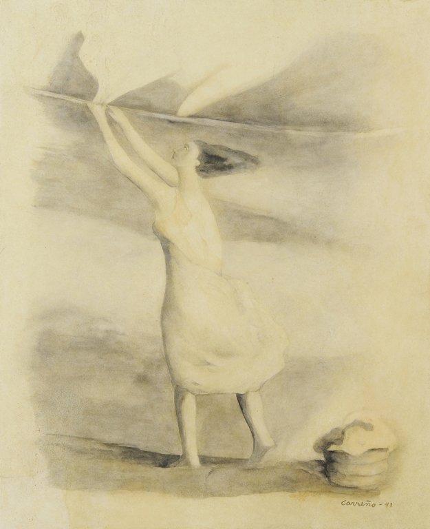 MARIO CARREÑO, (Cuban, 1913-1999), Lavandera, 1941,