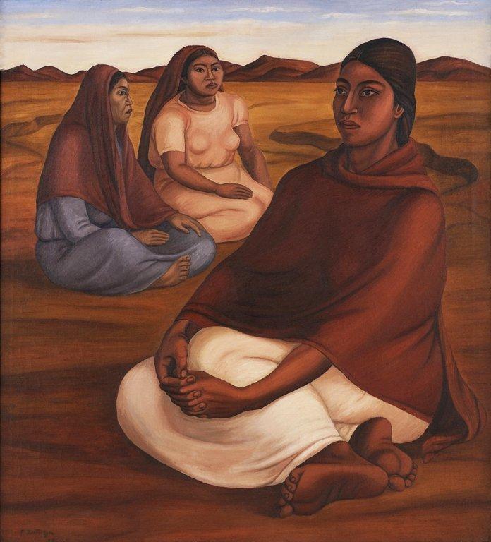 FRANCISCO ZÚÑIGA, (Mexican, 1912-1998), Mujeres, 1938,