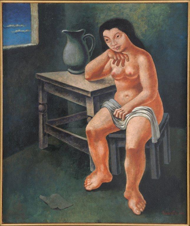 MARIO CARREÑO, (Cuban, 1913-1999), Desnudo de Muchacha,
