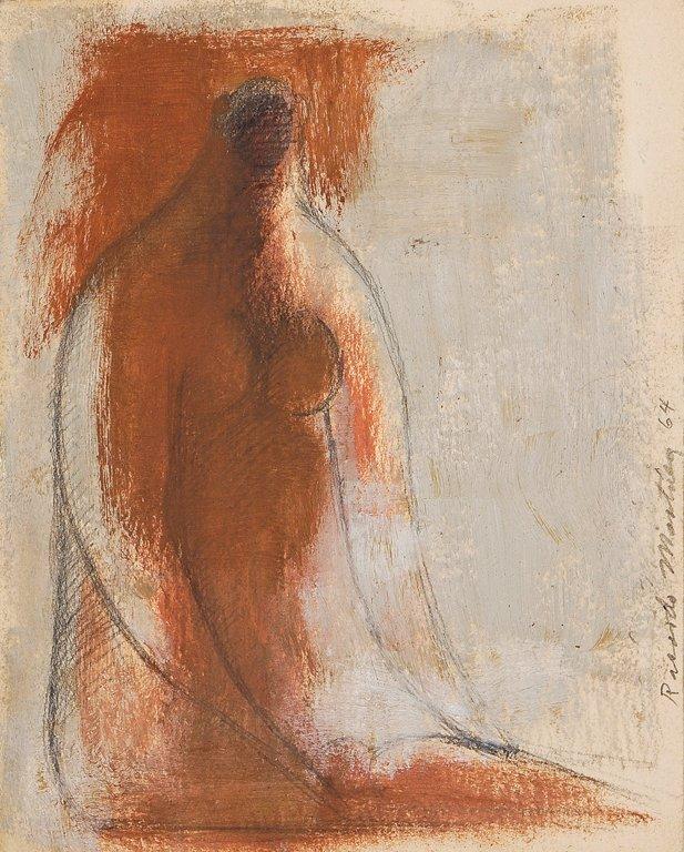 RICARDO MARTÍNEZ, (Mexican 1918-2009), Mujer, 1964, Oil