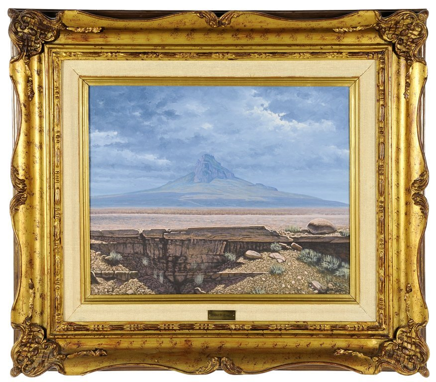 MIGUEL A OROPEZA, (Mexican, current), Landscape, Oil on