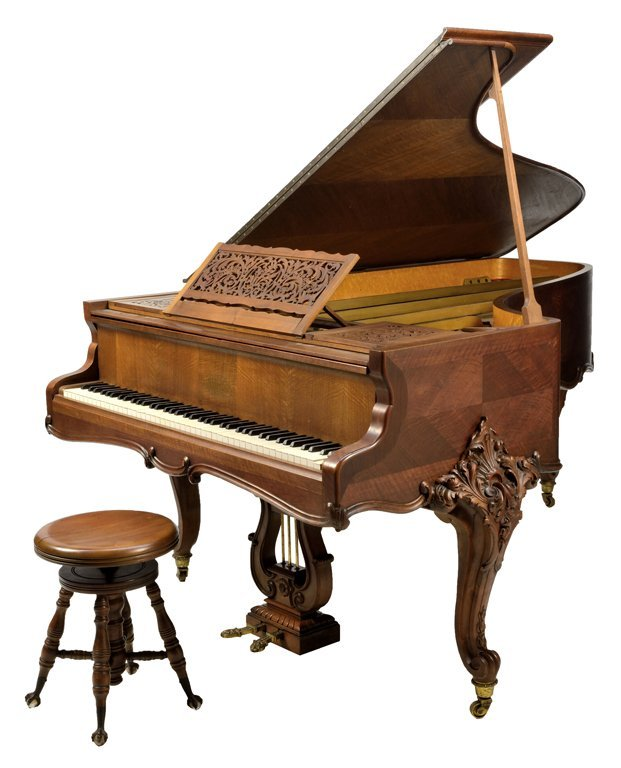 A FRENCH ERARD LOUIS XV STYLE GRAND PIANO