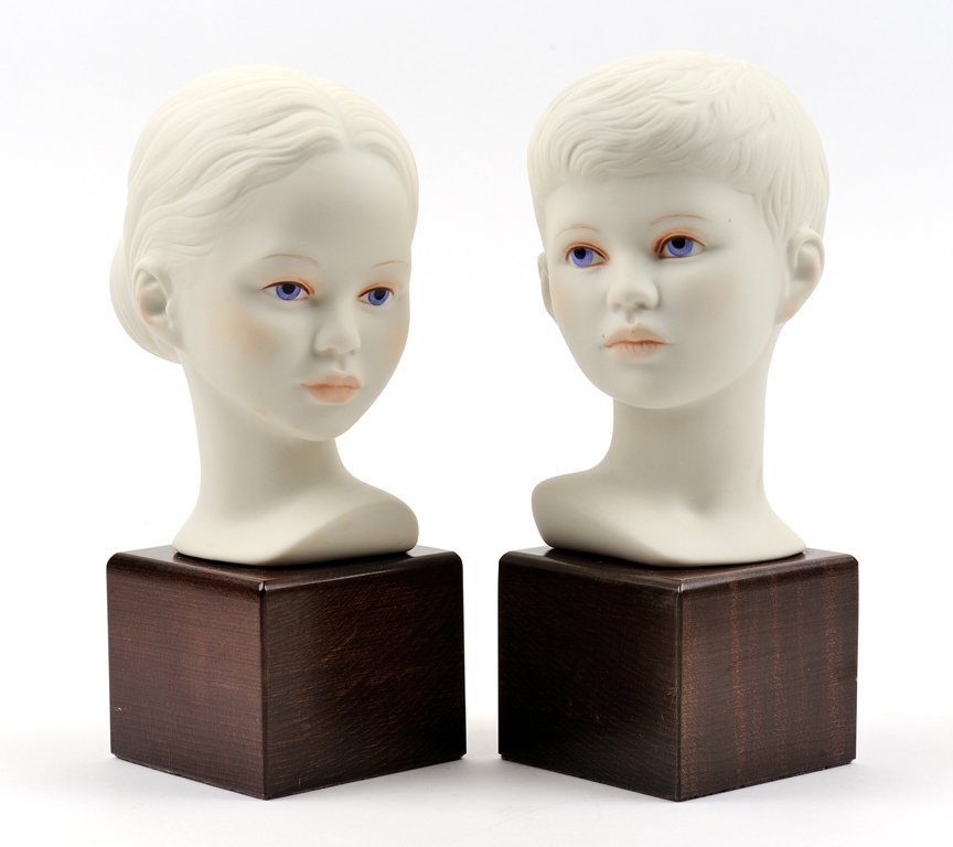 TWO CYBIS PORCELAIN BUSTS