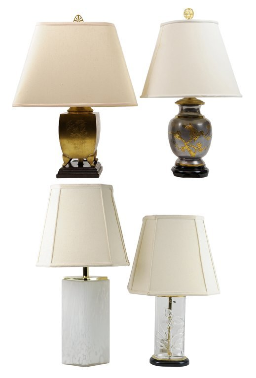 A GROUP OF FOUR DECORATIVE LAMPS