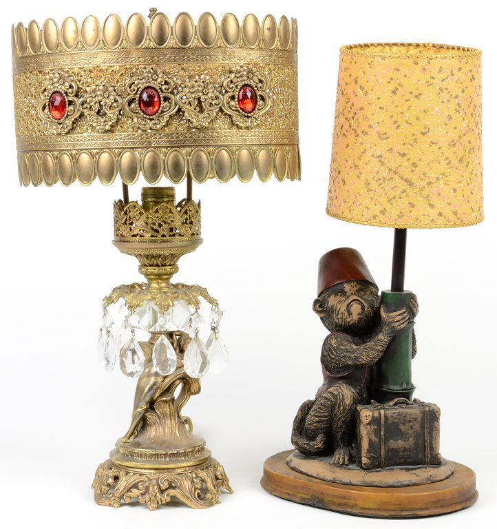 TWO DECORATIVE LAMPS