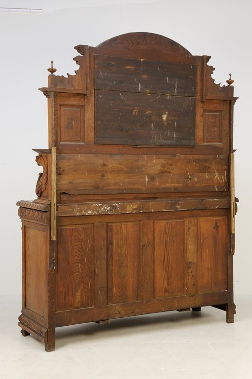 A FRENCH GOTHIC REVIVAL SIDEBOARD WITH MIRROR - 6