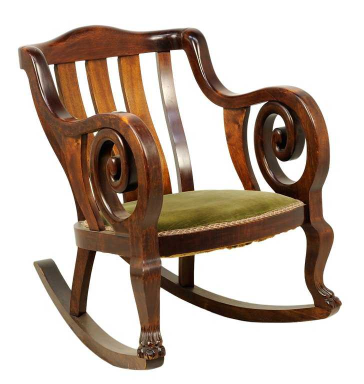 An American Empire Style Rocking Chair