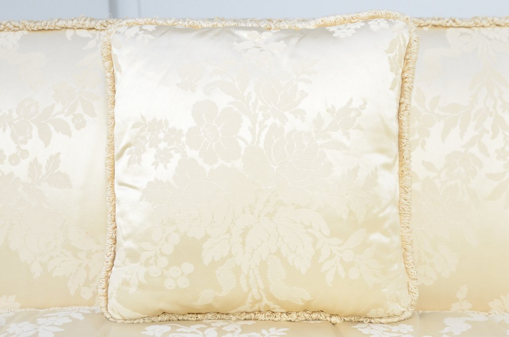 A FRENCH GILTWOOD AND UPHOLSTERED KNOLE SOFA - 3