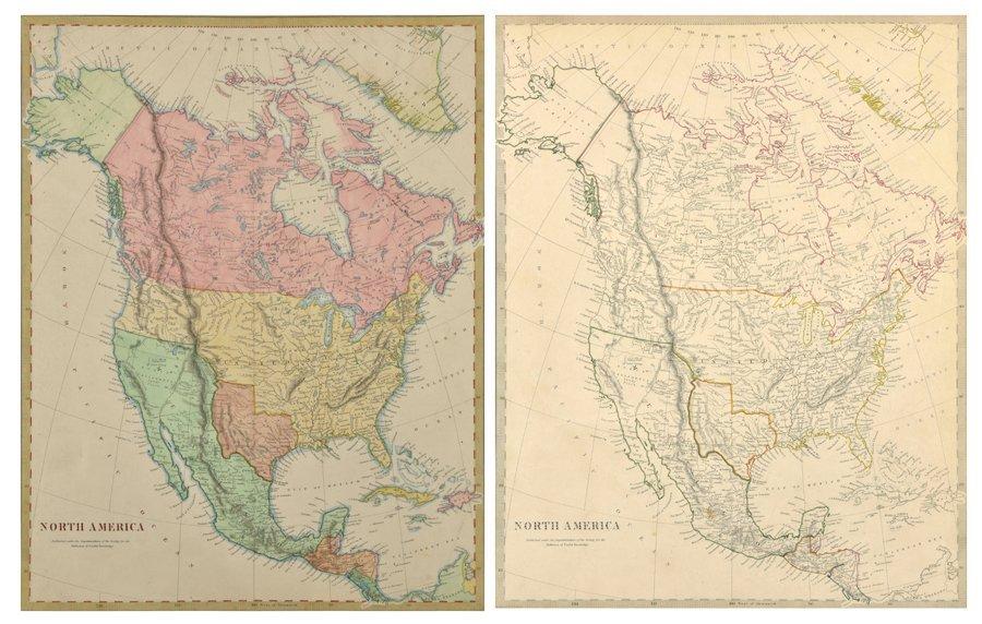 JOHN & CHARLES WALKER, (English, fl. 1820-1895), North