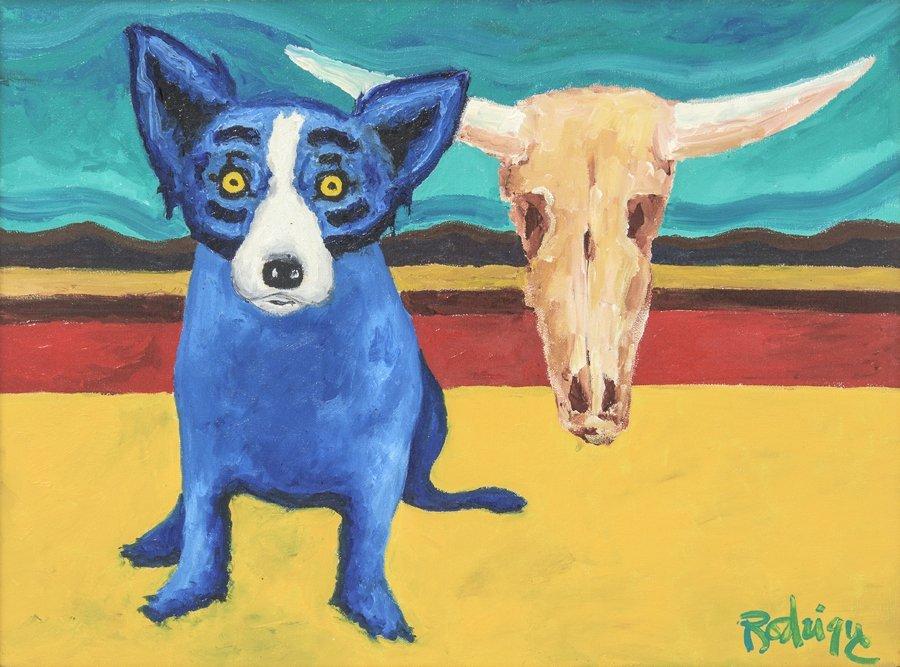 GEORGE RODRIGUE, (American, 1944-2013), Desert Blue