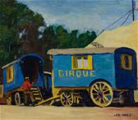 ELIZABETH B. ROBB, (American, 1864-1939), French Circus