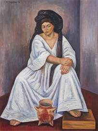 RAUL ANGUIANO, (Mexican, 1915-2006),Yalalteca con Vasij