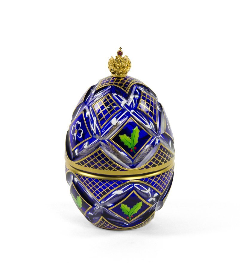 A THEO FABERGE CRYSTAL, VERMEIL, STERLING SILVER AND