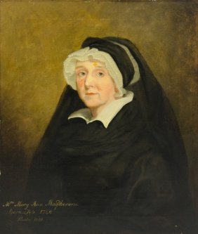 English School , (19th Century), Mrs. Mary Ann