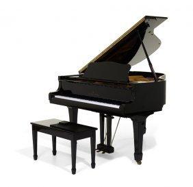 A Young Chang Ebony Polish Baby Grand Piano