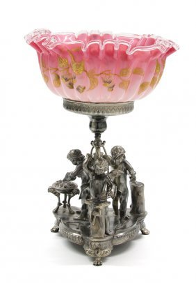 An American Silver-plate Figural Center Bowl, Wilcox