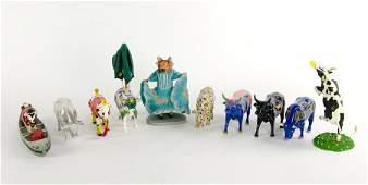 A COLLECTION OF TEN 'COW PARADE' FIGURES