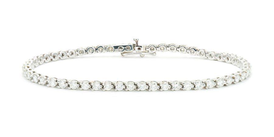 A TIFFANY & CO. DIAMOND LINE BRACELET