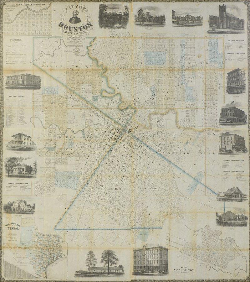 CITY OF HOUSTON, HARRIS CO., TEXAS, 1869, PUBLISHED