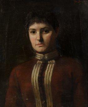 John Biognoli, (19th Century), Portrait Of A Woman, Oil
