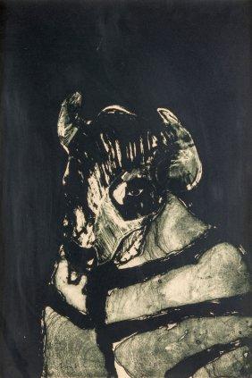 Fritz Scholder, (american, 1937-2005), Buffalo,