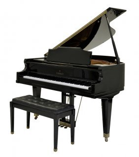 A Kimball Ebony Baby Grand Piano