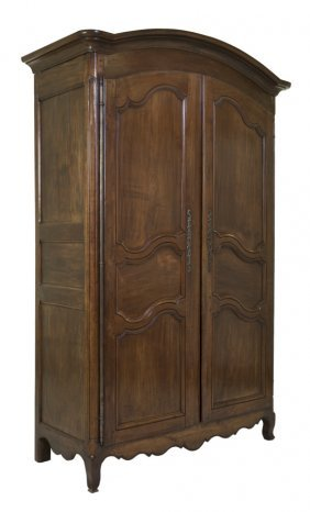 A French Provinicial Cherry Wood Armoire