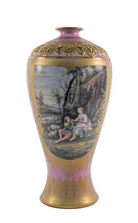 A French Style Porcelain Vase