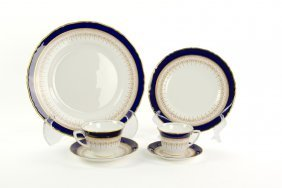A Royal Worcester Porcelain Dinner Service For Ten