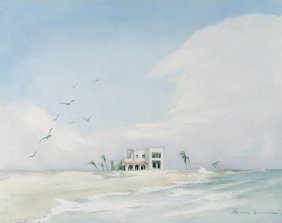Aarne Kivela, (american, 20th Century), Beach Scene,