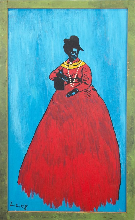 ARTIST UNKNOWN, (21st Century), Lady of Color, Oil on