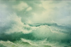 Artist Unknown, (20th Century), Seascape, Giclee, H 24