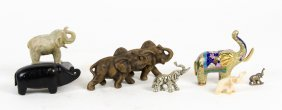 A Collection Of Elephant Ornaments