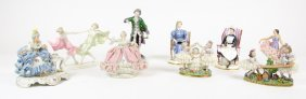 A Collection Of Porcelain Figurines