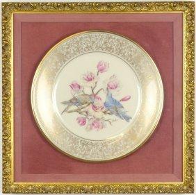 A Lenox Porcelain Limited Edition Boehm Bird Plate